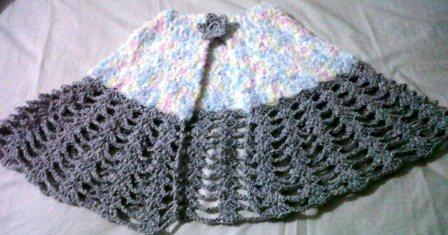 a crocheted capelet